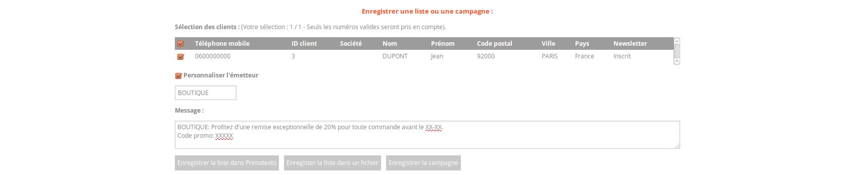 Prestashop - Campagne